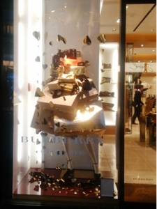Burberry window design